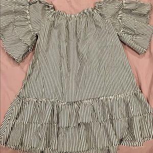 Zara Seersucker Striped Dress